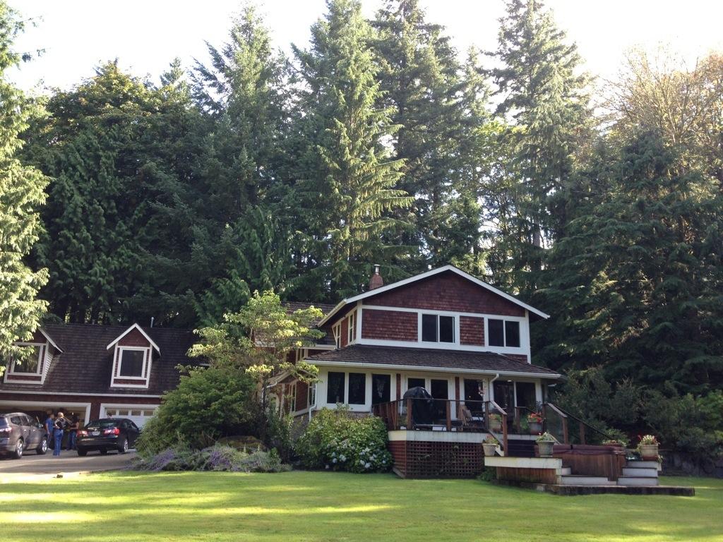 La casa dove ho dormito, a pochi chilometri da Seattle, circondata da boschi.