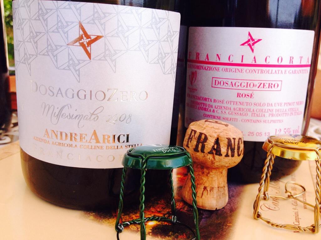 Alcune delle bottiglie degustate da Andrea Arici.
